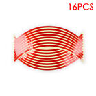 16pcs Racing Reflective Wheel Decals Tape Rim Stickers Strips For Motorcycle Car
