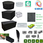 G4RCE GARDEN OUTDOOR PATIO FURNITURE COVER HIGH QUALITY BLACK COVERS WATERPROOF