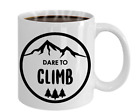 Hiking Coffee Mug  Mountain Climber Mug Gift for Hikers Campers Adventure
