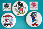Set Vintag USSR Russia Soviet Metal Pin Badge Mickey Mouse Donald Duck Girl Pipi