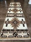 Southwest Native American Runner Area Rug Ivory Design C318 2 Feet X 7 Feet