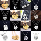 2 3PC Encourage Best Friend Gift Crystal Necklace Pendant Jewelry Friendship BFF
