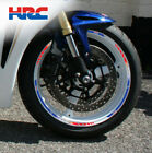 HRC Honda CBR1000RR Fireblade motorcycle wheel decals stickers rim stripe 1000rr