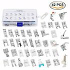 Sewing Machine Presser Feet Kit Set 42 pcs for Brother Babylock Singer Janome
