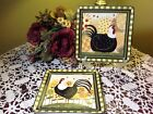 CERTIFIED INTERNATIONAL (2) Dan DiPaolo Oh Happy Day Rooster Salad Plates