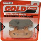 Keeway Outlook Sport 125 Brake Disc Pads Rear R/H Goldfren 2007-2010