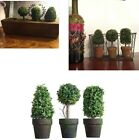 3 Small PVC Topiary In Pot Artificial Plant Shrub Bush Home SET Outdoor Indoor