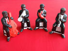 Vintage Black Americana Ceramic Figurine 4 Piece Jazz Band