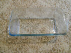 Old Vintage Fire King Sapphire Clear Blue Philbe Loaf Baking Pan Dish Depression