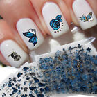 24Sheet Flower Leaf Butterfly 3D Nail Art Stickers Decal Manicure Decoration Wor
