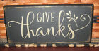 PRIMITIVE COUNTRY GIVE THANKS 12 SIGN black