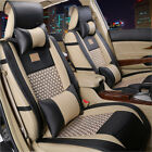 Us Auto Deluxe Pu Leather 5 Seats Car Seat Covers Front Rear Cushion Matpillows