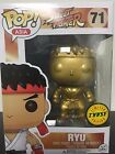 100% Authentic Funko Pop Asia Exclusive Street Fighter Gold Ryu CHASE Figure