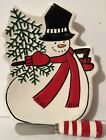 Fitz & Floyd 2007 Holiday Home Celebrate SNOWMAN Snack Plate W/ Spreader Cute!