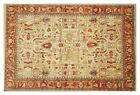 Handmade Rug 9x12 ft Wool Cream Serapi Perfect Condition Living Room Rug