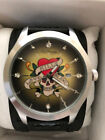 ED Hardy Men`s Skull Watch New with Tags