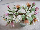 Chinese bonsai glass flower tree with 14 big flowers