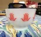FABULOUS VINTAGE FIRE KING SEALTEST COTTAGE CHEESE Pink TULIP BOWL