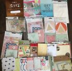 Large Lot Of Scrapbook Project Life Cards Heidi Swapp Amy Butler