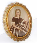 ANTIQUE Victorian HAND PAINTED Framed PAINTING Portrait Beautiful WOMAN   ID'd
