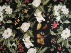 Williamsburg Waverly Black Magnolia Lined Curtain Panel 84x40 Garden Images