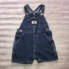 Toddler Vintage Polo Jeans Co Ralph Lauren Denim Bib Overalls Shorts XL 18 24 MO