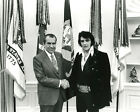 Elvis Presley meets Richard Nixon Oval Office White House 11 x 14 Photo Picture