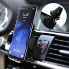 2in1 Qi Wireless Fast Charger Car Air Vent Phone Holder Stand For Samsung LGO