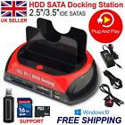 "2.5""3.5"" HDD Docking Station IDE SATA USB Hard Drive Card Reader Dock HUB lGO"