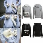 Unisex Mewgaroo Nyangaroo Cat Dog Pet Women Kangaroo Hoodie Carrier Sweater lGO