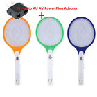 Rechargeable LED Electric Bug Pest Fly Mosquito Killer Swatter Zapper Racket AUI