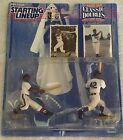 1997 STARTING LINEUP CLASSIC DOUBLES - HANK AARON AND JACKIE ROBINSON FIGURES