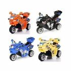 3 POWER WHEELS MOTORCYCLE battery powered RIDE ON toy kid ELECTRIC game baby Car