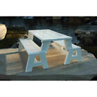 Convert A Bench White picnic table for camping trips outdoor 5rcat New
