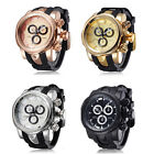 Original Brand Shhors High Quality Big Dial Cool Men Business Silicone Watches