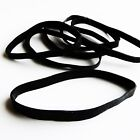 80 Large Black Fishing Rubber Bands Size 64 35x1 4 UV  Heat Resistant
