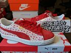 Puma Suede Classic x Hello Kitty Bright Red 50 Anniversary White Women 366306 01