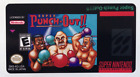 Super Punch Out SNES Cartridge Replacement Game Label Sticker Precut