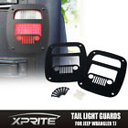 XPRITE Black Metal Tail Light Guard Grill Cover FITS 96-06 JEEP WRANGLER TJ YJ