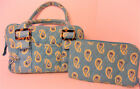 VERA BRADLY baby blue quilted lime green paisley tote purse and wallet