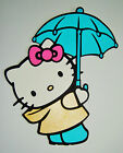 Hello Kitty With Umbrella Die Cut Paper Scrapbook Embellishment