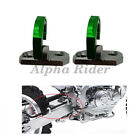 2X Rear Brake Line Cable Hose Clamps For Kawasaki KLX250 KLX 300 400R 650 Green