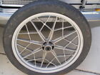 bmw Vintage Wheel and Tire FRONT from 1984 R80RT Snowflake Cast Silver FREE SHIP