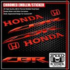 3D LOGO+LETTER FAIRING/FENDER EMBLEM DECAL STICKER CBR 600/900/1000 CHROMED RED