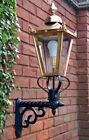 USED Ex Display Copper Victorian Garden Wall Light Set With Bracket