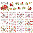 Nail Art Water Transfer Sticker Cute Lace Flower Butterfly Rose Bow Decal Manicu