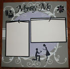 proposal 12 x 12 premade scrapbook layout 3D photo ready Wedding pages