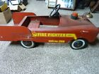 AMF PEDAL CAR FIRE TRUCK VINTAGE UNRESTORED
