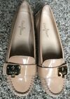 Cole Haan Tali Lock Moc II Womens Beige Patent Leather Loafers Shoes Size 5.5 M