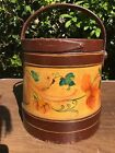 Antique Early Primitive Shaker ORIGINAL PAINT! Wood Sugar Bucket